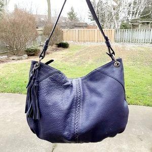 Danier purple leather boho bag